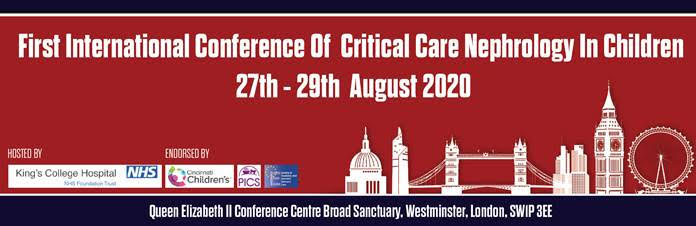 First International Conference of Critical Care Nephrology in Children - POSTPONED @ Queen Elizabeth II Centre